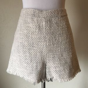Free People High Waisted Tweed Shorts